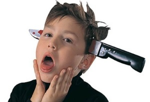Knife-Through-Head